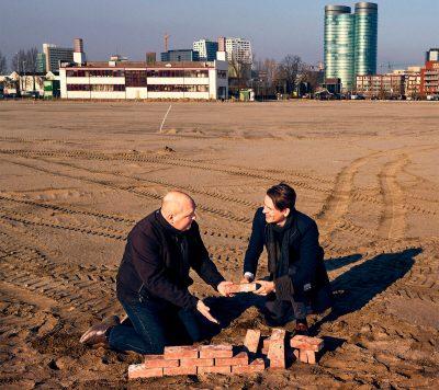 Projectleiders Aad van Andel en Casper van der Hout
